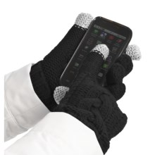Grandoe Leto Gloves - Touch-Screen Compatible (For Women) in Black/ Black - Closeouts