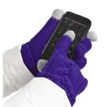 Grandoe Leto Gloves - Touch-Screen Compatible (For Women) in Indigo/Indigo - Closeouts