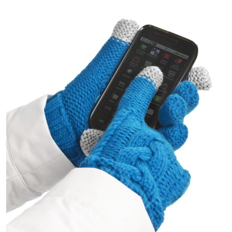 Grandoe Leto Gloves - Touch-Screen Compatible (For Women) in Sea Blue/Sea Blue
