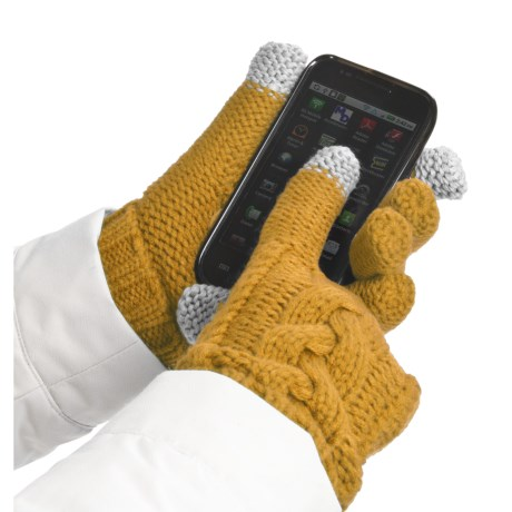 Grandoe Leto Gloves - Touch-Screen Compatible (For Women) in Sun/Sun