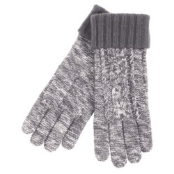 Grandoe Leto Sensor Touch Gloves - Wool Blend, Solid Cuff (For Women) in Black