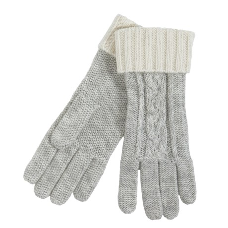 Grandoe Leto Sensor Touch Gloves - Wool Blend, Solid Cuff (For Women) in Raspberry