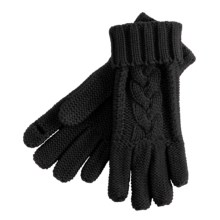 Grandoe Leto Texting Finger Cut Gloves (For Women) in Black - Closeouts