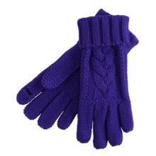 Grandoe Leto Texting Finger Cut Gloves (For Women) in Purple - Closeouts