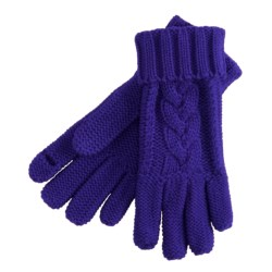 Grandoe Leto Texting Finger Cut Gloves (For Women) in Purple