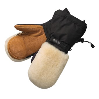 Grandoe Makalu Gore-Tex® Mittens - Waterproof, Insulated (For Men) in Black/Tan
