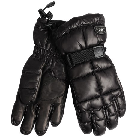 Grandoe Mother Goose Down Gloves (For Men) in Black