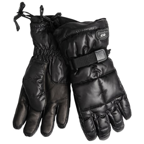 Grandoe Mother Goose Down Gloves (For Women) in Black