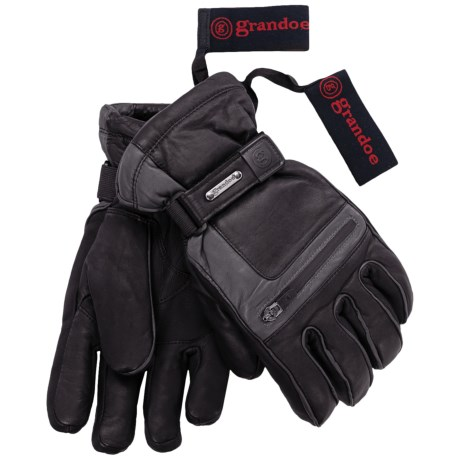 Grandoe Myth ThermaDry Gloves - Waterproof, Insulated (For Men) in Black/Graphite/True Red