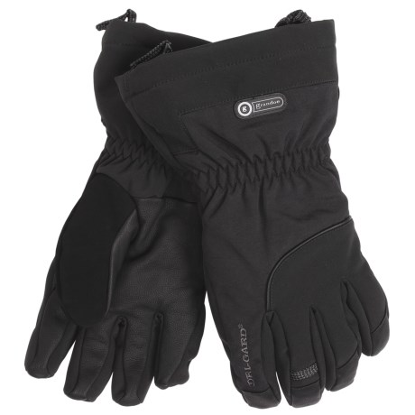 Grandoe Rainier Gloves - Waterproof, Insulated (For Men) in Black/Black