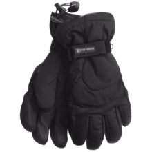 Grandoe Rattler Snow Sport Gloves - Waterproof, Insulated (For Men) in Black/Black - Closeouts