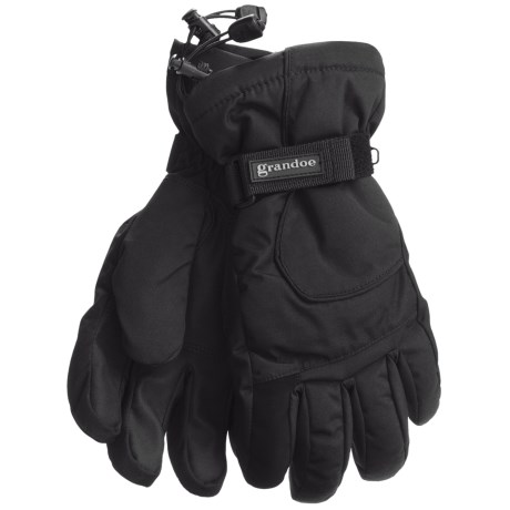 Grandoe Rattler Snow Sport Gloves - Waterproof, Insulated (For Men) in Black/Black