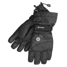 Grandoe Shadow II Gloves - Waterproof (For Men) in Black/ Black - Closeouts