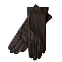 Grandoe Sheepskin Gloves - Cashmere Lining (For Women) in Deep Red
