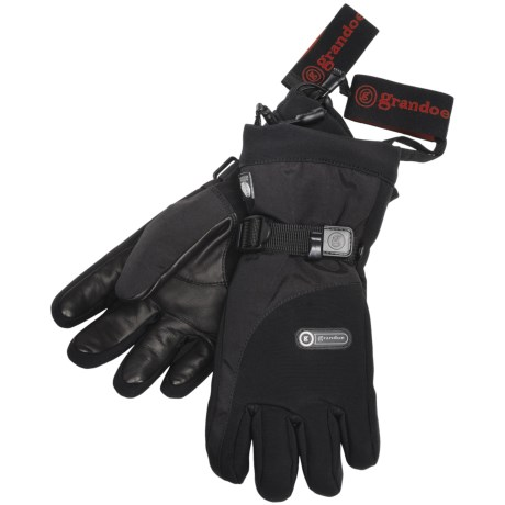 Grandoe STP Sensor Touch Gloves - Waterproof, Insulated, Touch-Screen Compatible (For Men) in Black