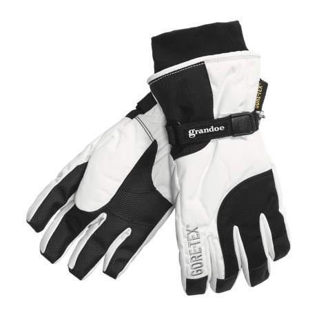 Grandoe Titan Gore-Tex® Gloves - Waterproof, Insulated (For Women) in Black/White