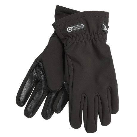 Grandoe Trekker Soft Shell Gloves (For Women) in Crimson