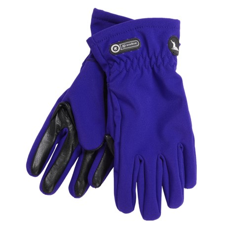 Grandoe Trekker Soft Shell Gloves (For Women) in Ink