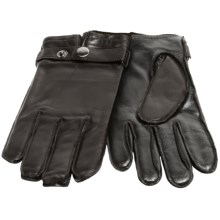 Grandoe Trump Sheepskin Gloves - Sensor Touch, Cashmere Lined (For Men) in Black - Closeouts