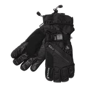 Grandoe Tundra Nylon Gloves - Insulated (For Men) in Black/Black