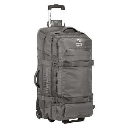 "Granite Gear 32"" Cross-Trek Rolling Duffel Bag in Flint Chromium - Closeouts b35ff2491d630"