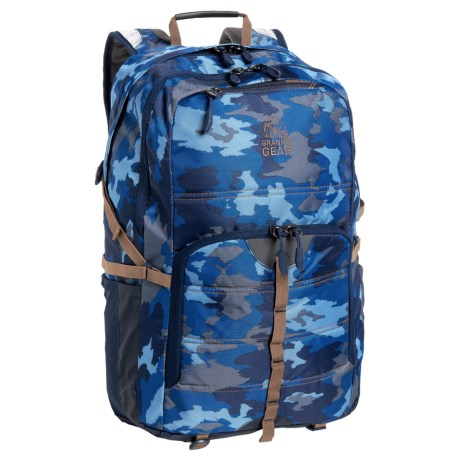 Granite Gear Boundary 30L Backpack in Surf Camo/Midnight Blue/Bourbon