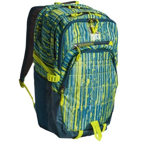 Granite Gear Buffalo Backpack in Linear Metric/Basalt Blue/Neolime