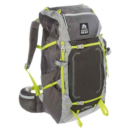 Granite Gear Lutsen 45L Backpack - Internal Frame in Flint/Chromium/Neolime - Closeouts