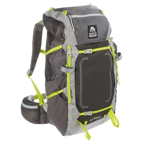 Granite Gear Lutsen 45L Backpack - Internal Frame in Flint/Chromium/Neolime