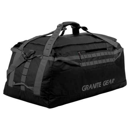"Granite Gear Packable Duffel - 36"" in Black/Flint - Closeouts"
