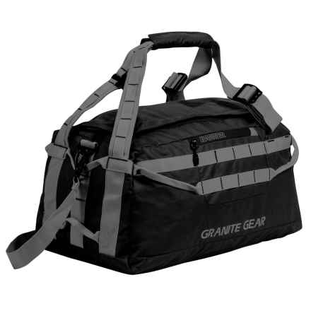 "Granite Gear Packable Duffel Bag - 20"" in Black/Flint - Closeouts"