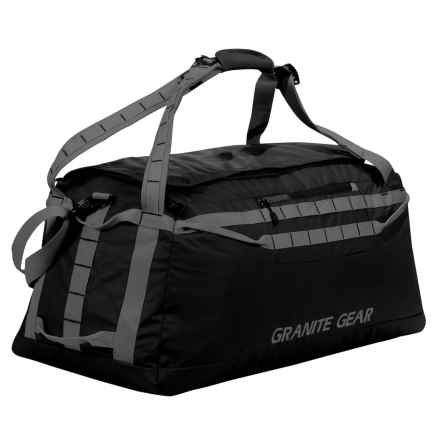 "Granite Gear Packable Duffel Bag - 30"" in Black/Flint - Closeouts"