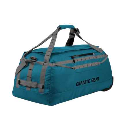 "Granite Gear Packable Rolling Duffel Bag - 30"" in Basalt Blue/Flint - Closeouts"