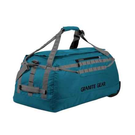 "Granite Gear Packable Rolling Duffel Bag - 30"" in Basalt Blue/Flint - Closeouts"