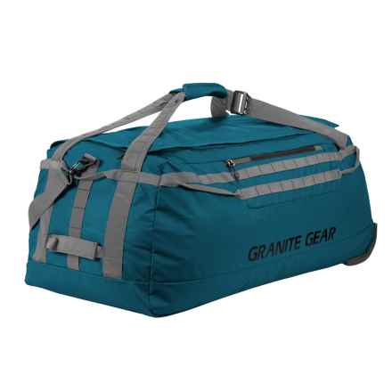 "Granite Gear Packable Rolling Duffel Bag - 36"" in Basalt Blue/Flint - Closeouts"
