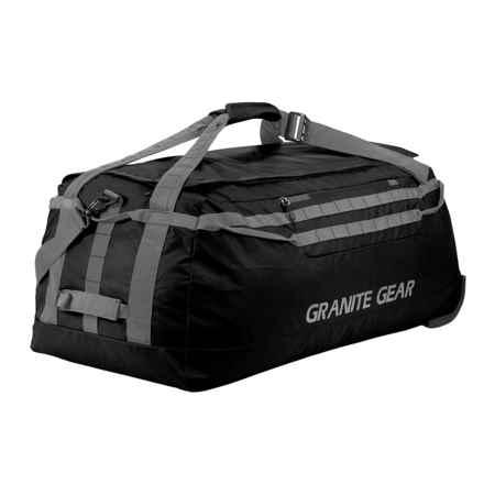 "Granite Gear Packable Rolling Duffel Bag - 36"" in Black/Flint - Closeouts"
