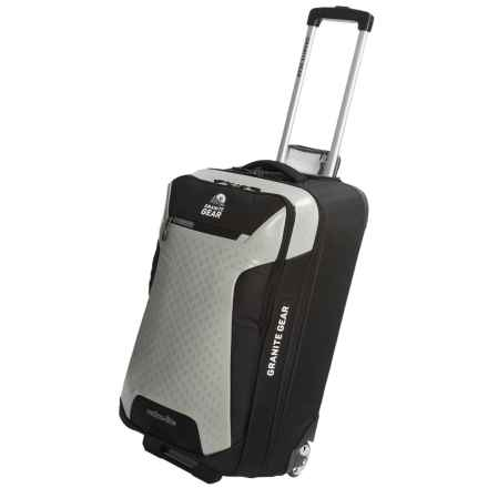 "Granite Gear Reticu-Lite Rolling Upright Suitcase - 30"" in Black/Chromium - Closeouts"