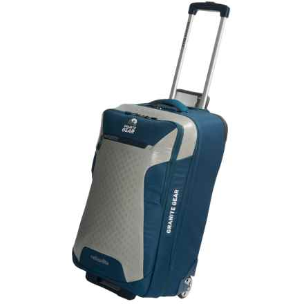 "Granite Gear Reticulite Rolling Upright Carry-On Suitcase - 22"" in Basalt/Chromium - Closeouts"
