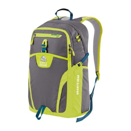 Granite Gear Voyageurs 29L Backpack in Flint/Neolime