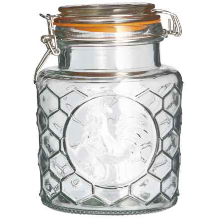 Grant Howard Embossed Rooster Storage Jar - 40 oz. in Clear - Closeouts