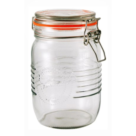 Grant Howard Old-Fashioned Embossed Glass Jar - 33.8 oz. in Clear