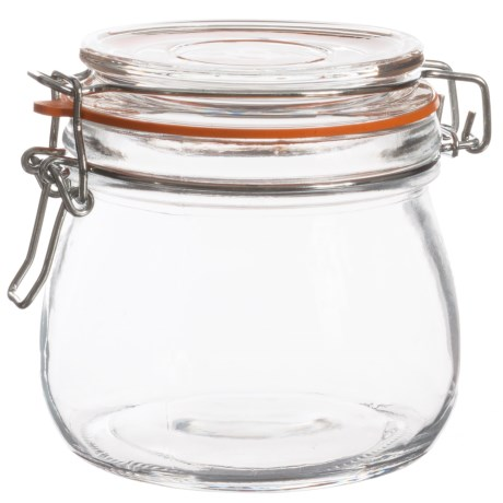 Grant Howard Preserve Jar with Lid - 18 oz. in Orange/Clear