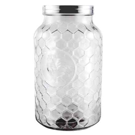 Grant Howard Rooster Jumbo Glass Jar - 198 oz. in Clear - Closeouts