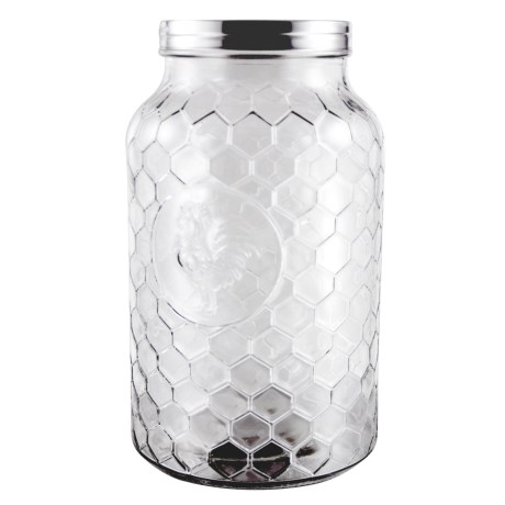Grant Howard Rooster Jumbo Glass Jar - 198 oz. in Clear