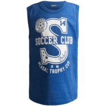 Graphic Muscle T-Shirt - Sleeveless (For Boys) in Blue Soccer Club - 2nds
