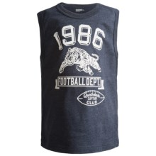 Graphic Muscle T-Shirt - Sleeveless (For Boys) in Navy - 2nds
