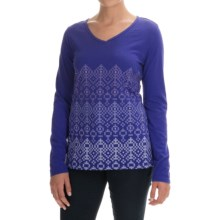 Graphic T-Shirt - Cotton Jersey, Long Sleeve (For Women) in Purple - 2nds