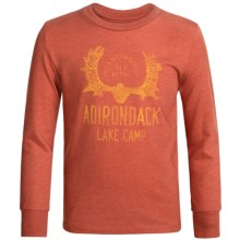 Graphic T-Shirt - Long Sleeve (For Big Boys) in Burnt Orange Lake Camp - 2nds