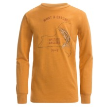 Graphic T-Shirt - Long Sleeve (For Big Boys) in Gold Upstate Anglers - 2nds