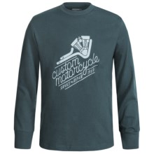 Graphic T-Shirt - Long Sleeve (For Big Boys) in Slate Motorcycle - 2nds